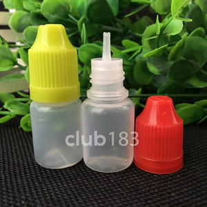 Wholesale PE Plastic Dropper Bottle e cig Oil Bottle 5ml pe dropper bottles With Childproof Cap and long thin tip