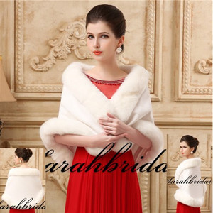 New Faux Fur Bridal Shrug Wrap Cape Stole Shawl Bolero Jacket Coat Perfect For Winter Wedding Bride Bridesmaid Free Shipping Real Image 2019