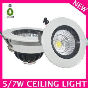 80-112lm W wholesale COB LED Downlight lamp WHITE color 5w 7w cheap round led ceiling downlight