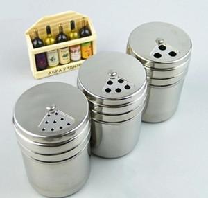 Küche Edelstahl Gewürzstreuer Glas Zucker Salz Pfeffer Kräuter BBQ Spice Zahnstocher Vorratsflasche