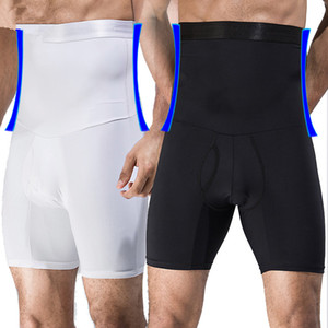 Männer hohe Taille Trainer Big Belly Control Höschen Boyshort Bauch Trimmer Korsett halten Magen Body Shaper Gürtel Unterhose abnehmen Unterwäsche