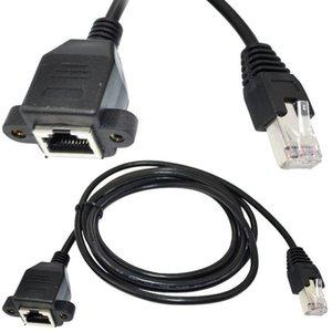 горячие продажи 100 шт. 30 см RJ45 Cat5 мужчин и женщин Ethernet LAN винт панели горе сетевой кабель-удлинитель шнур
