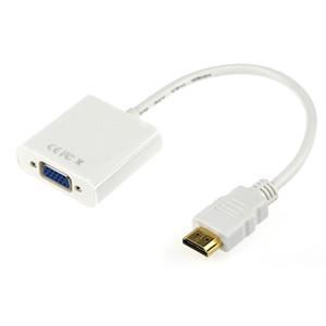 Connettore HDMI VGA bianco Supporto 1080P Risoluzione TV HDTV Cavo convertitore video da HDMI a VGA