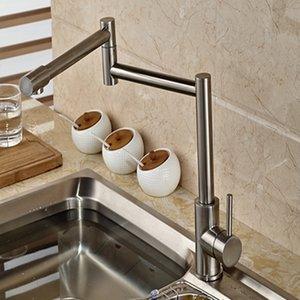 도매 및 소매 브랜드 NEW Nickel Brushed Kitchen Faucet Extent Vessel 싱크 믹서 탭 싱글 핸들 홀 베니 티 믹서