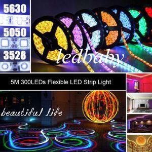 500 м синий светодиодные полосы света 3528/5050/5630 SMD RGB / белый / теплый / зеленый / красный водонепроницаемый nonWaterproof 300LEDs 3000LM гибкие одного цвета DHL
