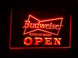 B-27 AÇIK Budweiser Bira NR Pub Bar 7 renk LED Neon Işık İşaretler