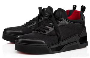 Venta caliente Bajo top Aurelien Sneakers Flat Mujeres, Hombres Bottom Red Shoes Calidad perfecta Casual Outdoor Trainer Regalo perfecto con caja