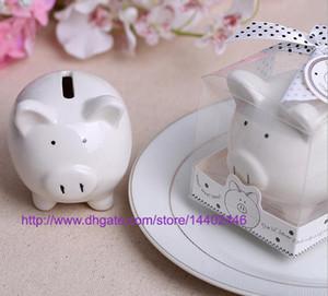 20sets Bambini Bambino Regalo Regali di nozze Ceramica Pig Piggy Bank Salvadanaio Decorazione Bomboniere Salvaschermo Can Can White