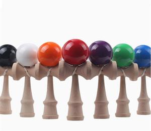 20X 18.5 cm Engraçado Japonês Tradicional Brinquedo De Madeira Kendamas Bola colorida Kendama PU pintura brinquedos de madeira
