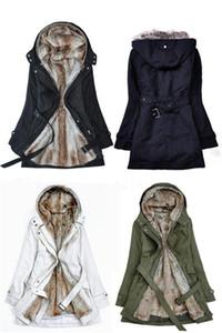 Toptan-Kalın Faux kürk astar kadın kürk Hoodies kış sıcak uzun kürk iç ceket ceket pamuklu giysiler termal parkas Ücretsiz kargo
