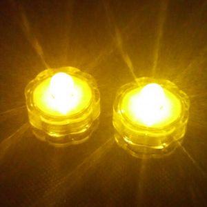 라운드 촛불 발광 LED 램프 수중 방수 촛불 라이트 다이빙 배터리를 교체 할 수 있습니다 새해 장식