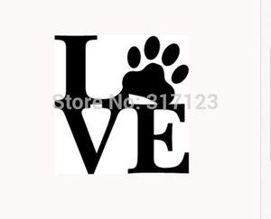 사랑 PAW 스티커 비닐 차 창 데칼 귀여운 동물 애완 동물 개 고양이 벽 아트