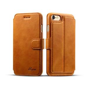 Новое поступление роскошный кожаный кошелек телефон чехол для кожаный кошелек Iphone 7 8 6 6 s плюс откидная крышка чехол слот для карт памяти стенд чехол
