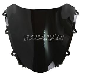 Motorcycle Double Bubble Windshield WindScreen For 2004-2007 Honda CBR1000RR CBR 1000 RR 2005 2006 04 05 06 07 Black
