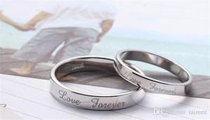 Yeni 925 Ayar gümüş Yüzük Aşk Sonsuza Çiftler Takı Için Güzel Ve Tatlı Düğün / Nişan Hediye Ücretsiz Kargo Çeşitli Boyutları