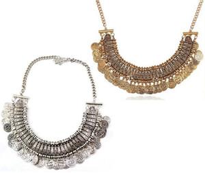 Bohemio étnica Tribal Coin Tassel Gargantilla Necklace Belly Dancing Jewelry