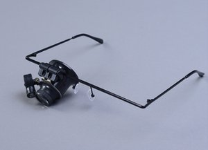 20 mal tragen Brille Typ 9892A Lupe mit LED-Leuchten Lupe Jade Schmuck, Uhren und Armbanduhren, elektronisches Instrument repai