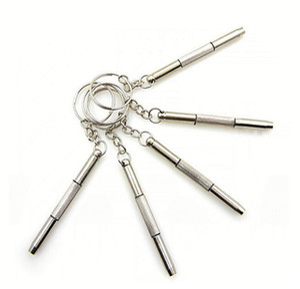 Atacado 1000 pçs / lote Mini 3 em 1 Eyeglass Chave De Fenda Sunglass Assista Repair Kit com Keychain presentes promoção