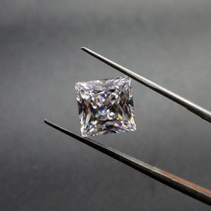 Forma cuadrada Claro Cubic Zirconia Birthstones Directo de Fábrica de Calidad Superior Corte de la Máquina Sintético Suelta Diamante Para Hacer Joyería 500 unids / lote