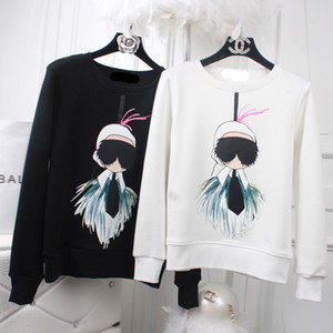 Inverno Plus Grosso Velvet Mulheres Suéteres e Pullovers Moda Lafayette Impressão