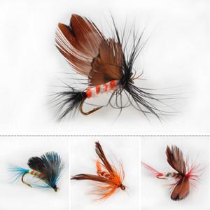 Envío rápido y gratuito a través de DHL Fly Fishing Flies Trout Bass Fly Fishing señuelo cebos con anzuelo señuelos de pesca 12pc / set