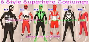 Unisex Superhero Suit Outfit 6 Estilo Lycra Super Hero Trajes Fantasia Superhero Inseto Libélula Escorpião Ultraman Trajes Ciclópicos P064