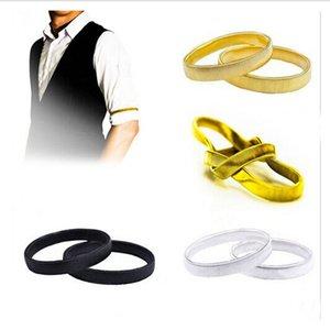 Wholesale-2 PC / Paar Unisex-Geisteshemd-Hülsen-Halter-rutschfeste Armband-elastisches Metallausdehnungs-Strumpfband-elastisches Stabhülsenband