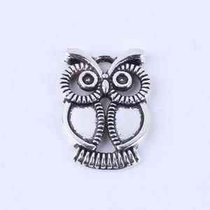 Новая мода серебро / медь ретро Сова кулон производство DIY ювелирные изделия кулон fit ожерелье или браслеты Шарм 100 шт. / лот 5371
