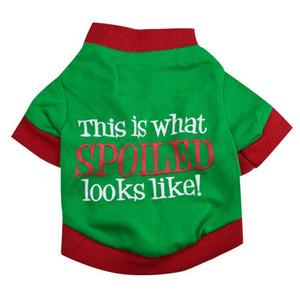Regali di Natale del modello vestiti del cane Spoiled Word Pet Dogs T-shirt 100% del fumetto di modo sveglio di Pet Abbigliamento Pet Supplies maglietta sveglia Coat Teddy