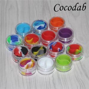 Şeffaf bho Plastik kaplar için 10 ml akrilik dab kutusu konteynerler balmumu bho konteynerler e-çiğ temizle silikon yağ kavanozları