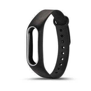 화려한 실리콘 손목 스트랩 팔찌 원래 Miband 2 Xiaomi Mi band 2 Wristbands의 이중 색상 교체 시계 밴드