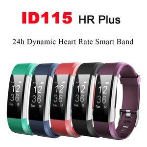 Tasa de rastreador de ejercicios mujeres de los hombres del reloj inteligente ID115HR PLUS inteligente Muñequera Casual Sport Corazón con carga USB para iOS Android