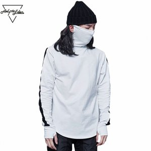 Wholesale- Aelfric Eden G-DRAGON The Same Paragraph Turtleneck Hoodies Assassins Creed Pullover Mask Section Men Sweatshirts Hot Sale Tops