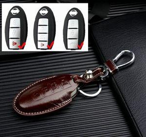 Infiniti için deri Araba Anahtarı Kapağı Q50 Q70 Q60 M35 FX Nissan Rogue X-Trail için vb Altima Tiida Sylphy Qashqai Anahtar Tutucu Kılıf