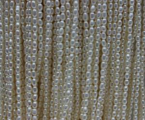 Свободные бусины 5-6 мм белый культивированный пресноводный жемчуг свободные бусины мода DIY ювелирные изделия рис форма