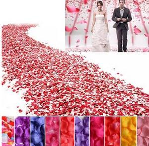 20 Cores De Seda Rosa Pétalas De Flores Artificiais Pétalas De Casamento Decoração Do Partido Decoração Do Festival De Mesa Decorativa 50 bag / Lot (5000 pc) G1213