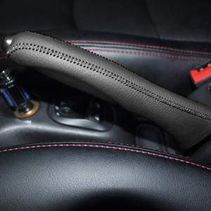 Чехол для Peugeot 206 207 Handbrake обложка натуральная кожа handbrake ручки удлиненные ручной шитье авто интерьер украшения стайлинга автомобилей обложки