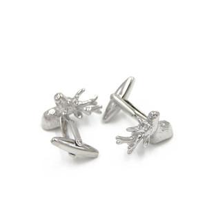 Belle série de cadeaux de Noël-Santa Deer Cufflink- Fashion Cufflink Deer