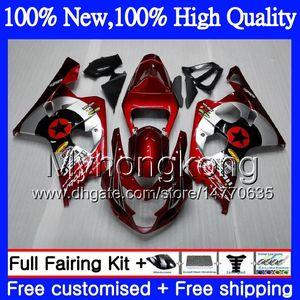 Motor estrella roja oscura para SUZUKI GSXR 750 GSX R600 K4 GSXR 600 04 05 24MY GSX-R750 GSX-R600 GSXR750 04 05 GSXR600 2004 2005 Carenado