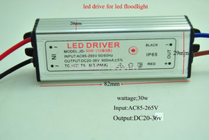 Free shipping led driver DC20-36V 30w 900mA led power supply floodlight driver (10 series 3 parallel) waterproof IP65