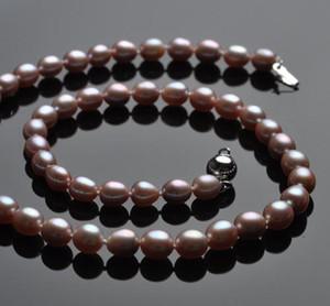 Оптовая красивые 6-7 мм рис формы природных жемчужное ожерелье HFY-Y07