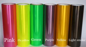 12 rolos / lote Farol tint filme luzes do carro traseiro tingimento luzes da cauda matiz tamanho 0.3x10 m / rolo com 12 cores disponíveis