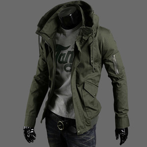Frühling Männer Jacke Mantel verfügt über Arm-Reißverschluss Designer-Jacken Herren Marke plus Größe Luxus Bomber Jacke Windjacke Winter Mäntel für Männer