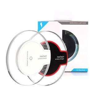 Qi Wireless-Ladegerät aufladen für Samsung S6 Rand s7 Rand Fantasie High Efficiency-Pad für Samsung-Handy mit Kleinpaket