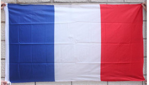 Afiş bayrak 90 * 150 cm fransa bayrağı ulusal polyester dünya kupası için fransız bayrağı