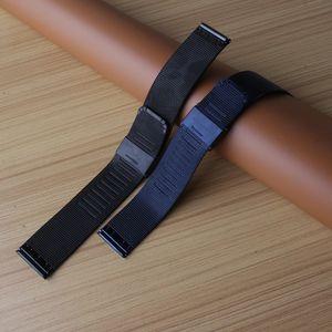 Milanese Döngü 18mm 20mm 22mm 24mm Izle Bantları Askı koyu mavi siyah ultra-ince Paslanmaz Çelik Hasır Askısı Bilezikler WatchBands erkekler için saat