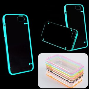 Для iPhone 6 6 S Plus TPU чехол световой прозрачный тонкий кристально чистый жесткий PC обложка для iPhone5 5S 4 4s случаях