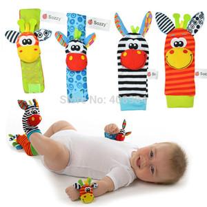 Ücretsiz nakliye Yeni varış bebek çıngırağı bebek oyuncakları Bilek Çıngırak + Ayak Çorap
