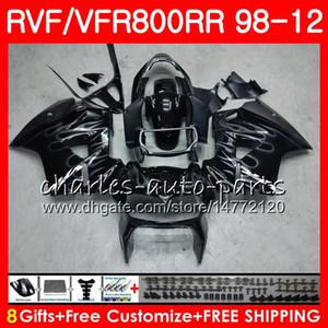 VFR800 Pour HONDA Interceptor Flammes argentées VFR800RR 98 99 00 01 02 03 04 12 9NO8 VFR 800 RR 1998 1999 2000 2001 2002 2003 2004 2012 Carénage