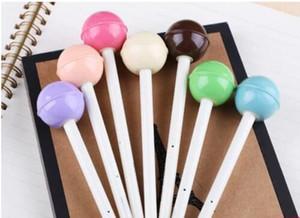 Ücretsiz Kargo / Yeni Sevimli şeker renkli lolipop jel kalem / Moda Stil / Hediye 30pcs / lot Kırtasiye